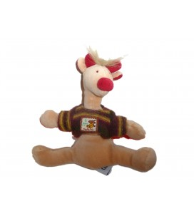 Doudou Girafe Vache beige - MOULIN ROTY - Les Zazous H 20 cm