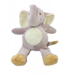 Doudou peluche ELEPHaNT gris NICOTOY - 24 cm