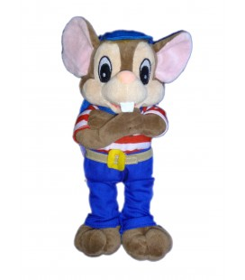 Doudou Peluche SOURIS rat marron SIBLU - H 25 cm