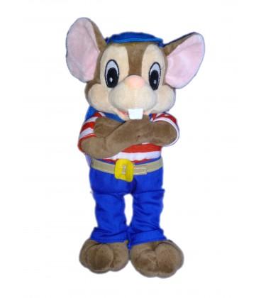 Doudou Peluche SOURIS rat marron SIBLU - H 25 cm