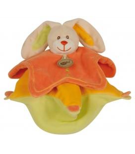 Doudou OURS Stellou orange jaune vert - BABY NAT' Babynat - BN771