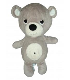 Doudou Peluche OURS gris blanc Bear plush - H et M - H 30 cm Baby Comforter
