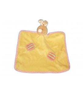 Doudou plat LAPIN jaune - Noukies Amtoys - BCF 01-018
