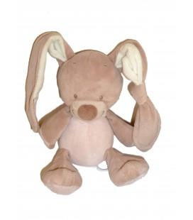 Peluche doudou Musical Lapin beige rose - NATTOU Jollymex - H 24 cm