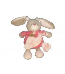 Doudou LAPIN rose Célestine - Mon doudou à moi - BABY NAT Babynat - H 18 cm