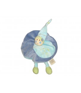 Doudou plat Lutin bleu Un Rêve de Bébé - CMP