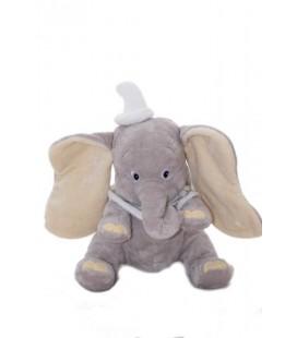 Doudou peluche DUMBO - 26 cm - Bonnet blanc - Collerette - Disney Store