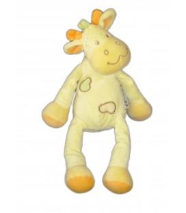 Doudou Cheval Vache Girafe jaune orange - Amtoys - H 30 cm