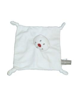 Doudou OURS plat blanc nez rouge ORCHESTRA - 4 noeuds