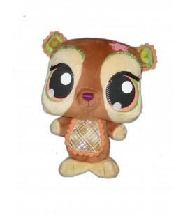 Doudou peluche Chien Ecureuil marron Littlest PET SHOP Hasbro 2010 - H 20 cm