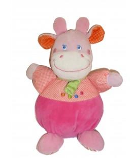 Doudou peluche vache rose Mots d enfants H 27 cm