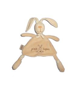 Doudou plat Lapin beige P'TIT LAPIN - CMP
