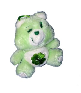 Doudou Peluche Bisounours Grosveinard Trèfle Care Bears Kenner 16 cm