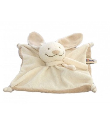 Doudou plat LaPIN beige clair THE PLUSHIES COLLECTION by LOMBOK