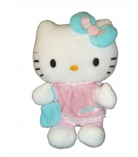 Doudou peluche HELLO KITTY - rose sac à main - H 16 cm Licence