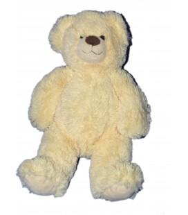 Doudou peluche OURS beige clair - Gipsy - Longs poils - H 35 cm