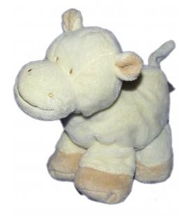 Doudou peluche Vache Poney Cheval Beige clair écru crème - Gipsy - H 20 cm