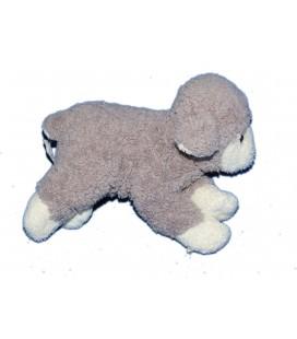 Doudou peluche MOUTON gris blanc - GIPSY - L 20 cm x h 16 cm