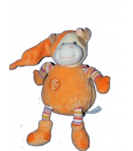 Doudou VACHE orange - Gipsy - H 20 cm NE FONCTIONNE PLUS