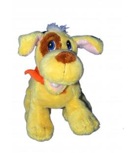 Doudou peluche CHIEN jaune marron qui aboie - GIPSY - H 16 x L 18 cm