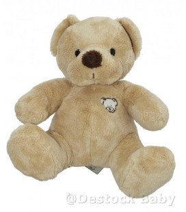 Doudou peluche OURS beige nez marron NICOTOY The Baby Collection 20 cm