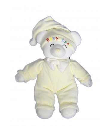 Doudou peluche OURS Jaune clair - Gipsy - Baby Bear - H 32 cm