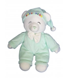 Doudou peluche OURS Vert - Gipsy - Baby Bear - H 32 cm