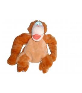 Doudou peluche Range Pyjama Fermeture SINGE orange ORANG OUTANG Tarzan Le Livre de la jungle Roi Louis Disney JEMINI - H 45 cm