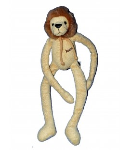 Doudou peluche LION marron beige Jumper Scratch - Anna Club Plush - H 40 cm
