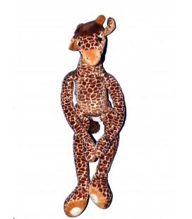 Doudou peluche GIRAFE marron Scratch - Anna Club Plush - H 48 cm