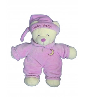 Doudou peluche OURS Mauve Gipsy - Baby Bear - H 32 cm