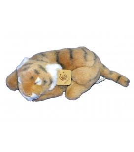 Doudou peluche WWF - Bébé TIGRE allongé dormeur - Anna Club Plush - L 23 cm