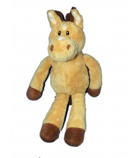Doudou peluche CHEVAL Beige marron - Anna Club Plush - H 30 cm