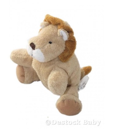 Doudou peluche LION beige marron NICOTOY The Baby collection - 15 cm