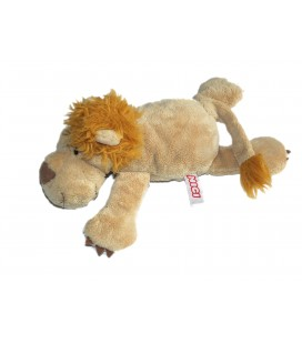 Peluche Doudou LION allongé Beige marron clair - NICI - L 27 cm