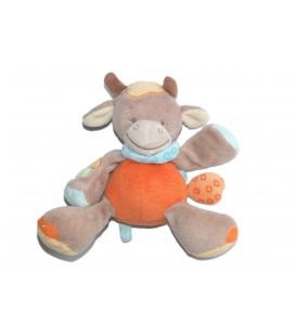 Peluche doudou Musical Vache Orange beige - NATTOU Jollymex - H 13 cm
