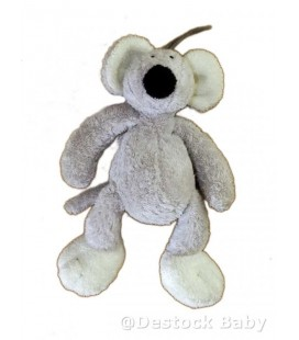 Doudou peluche SOURIS grise NICOTOY The Baby Collection - 19 cm