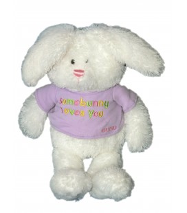 Doudou peluche Lapin blanc - GUND - Some Bunny loves you - H 32 cm