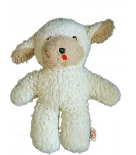 VINTAGE - Peluche Doudou Ancien Mouton agneau Ours beige - FLOKI - CJB - H 30 cm