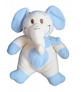 Doudou peluche ELEPHANT Blanc bleu ALTHANS Club - H 38 cm