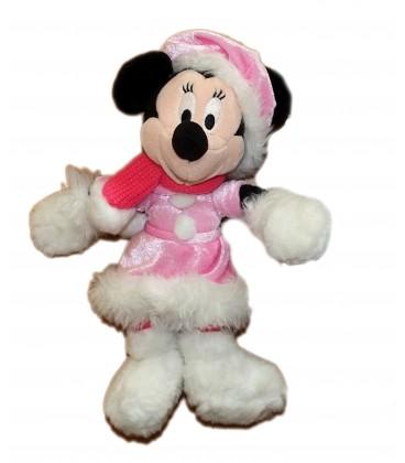 Doudou peluche Minnie rose Echarpe manteau Robe Disneyland Disney Paris 28 cm
