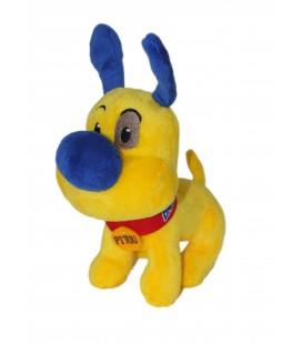 Doudou Peluche CHIEN jaune Pitou BANANIA - L 18 cm x H 17 cm + oreilles