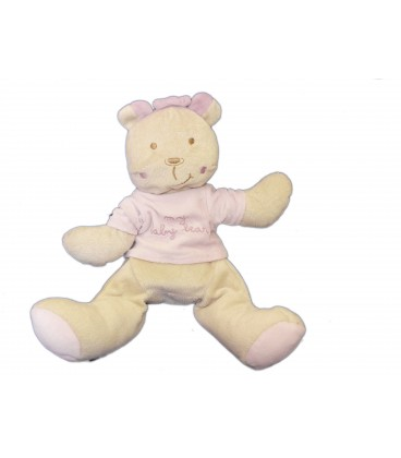 Doudou Peluche OURS beige rose My Baby Bear King - Pooloo - Alteximex