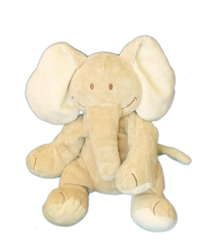 peluche doudou elephant beige kiabi b b avda h 22 cm assis. Black Bedroom Furniture Sets. Home Design Ideas