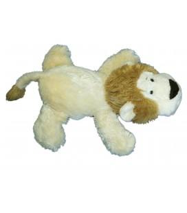 Peluche doudou LION beige allongé - PEEKO - L 35 cm
