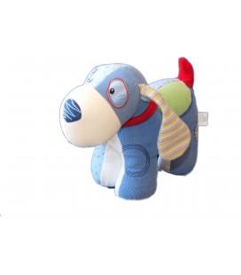 Peluche doudou CHIEN bleu GUND Baby - Velours Tissu - 21 cm x 26 cm