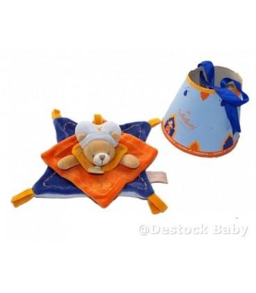 DOUDOU ET COMPaGNIE - Prince Indidous Orange bleu carré