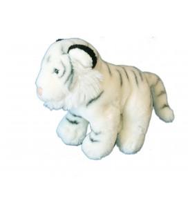 Peluche TIGRE blanc - LASCAR - H 22 cm x L 24 cm