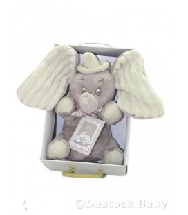 Doudou peluche DUMBO bébé éléphantDISNEY NICOTOY Boite cadeau Coffret