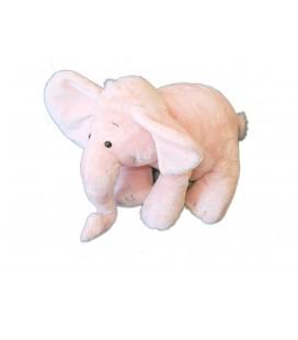 Doudou Peluche ELEPHANT rose - SCHAFFER - H 24 cm x L 28 cm